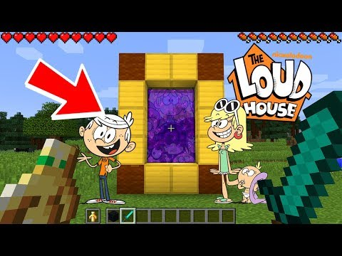 HOW TO MAKE A PORTAL TO THE COOL LOUD HOUSE DIMENSION - MINECRAFT THE LOUD HOUSE