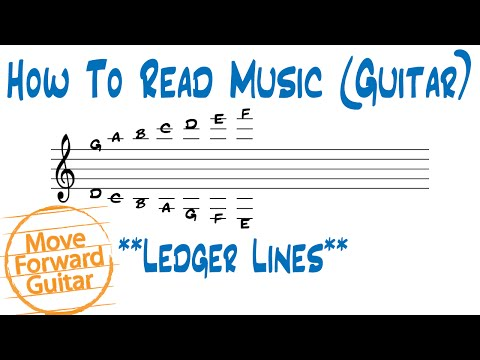 How to Read Music (Guitar) - Ledger Lines