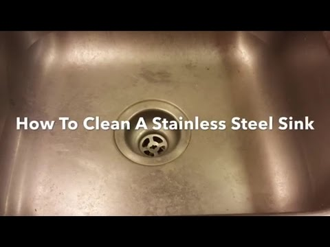 How To Clean A Stainless Steel Sink, Clean, Polish And Restore. Bar Keepers Friend.