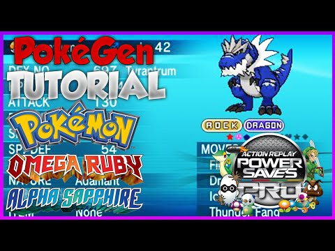 PokeGen Tutorial ORAS Powersaves: Pokemon Modifier (Omega Ruby Alpha Sapphire)