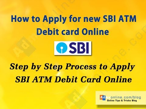 How to apply for new SBI ATM Debit card online [2018]