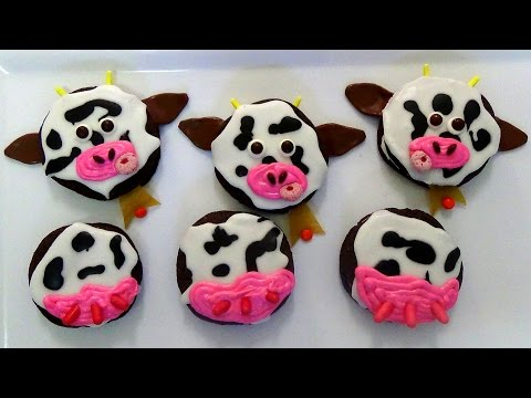 how to make chocolate whoopie pies and decorate as cows