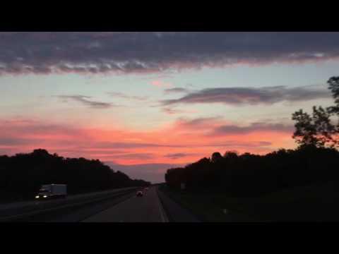 Sunset timelapse traveling with Megabus