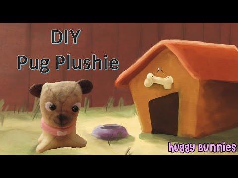 DIY Plush Dog Pug ╏ Huggy Bunnies