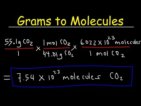Grams to Molecules and Molecules to Grams Conversion, Chemistry Practice Problems, Stoichiometry