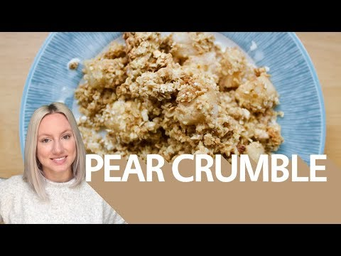 Pear apple crumble - vegan, gluten, dairy and refined-sugar free