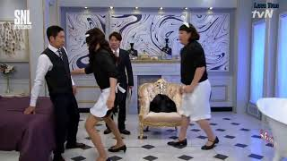 [Engsub] SNL SS9 Ep 32 with Super Junior - Leeteuk and Shindong! P2