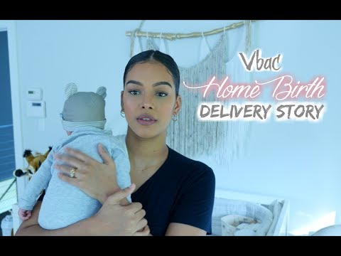 My Home Birth (vbac) Delivery // drug free