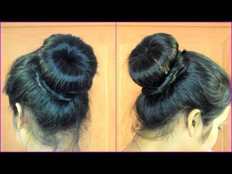 Donut bun hairstyle in just 2 min/easiest way to make donut hairstyle