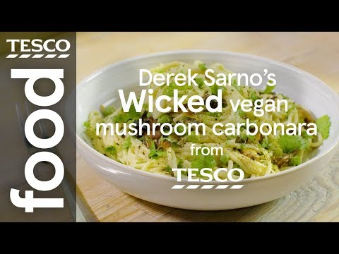 Derek Sarno's Wicked vegan mushroom carbonara | Tesco Food