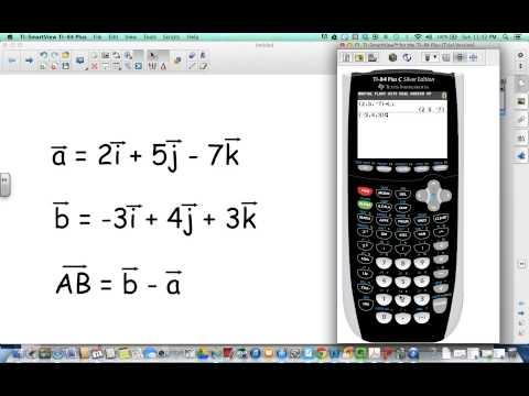 Vector Arithmetic on TI 84