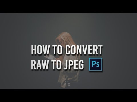 Photoshop cc Tutorial: How to convert RAW to JPEG | Photoshop cc Tips ☑️