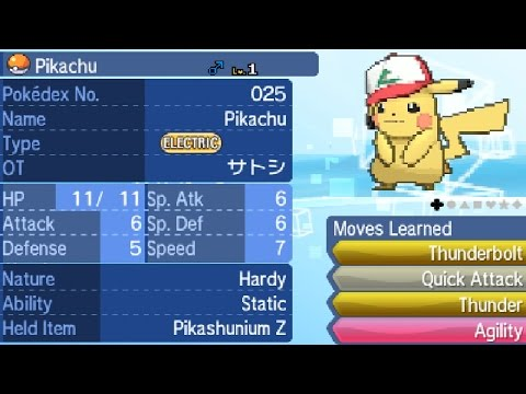 Obtaining Original Cap Pikachu With Pikashunium Z