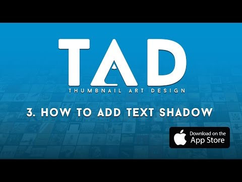 TAD (The Album Art App) -  How To Add Text Shadow