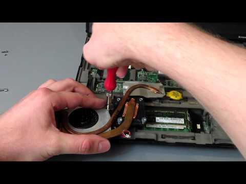 Czyszczenie laptopa lenovo R61i LAPTOP CLEANING fan tutorial
