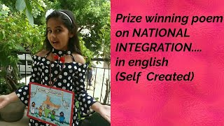 Poem on my country india/ national integration(self created) for english poem recitation competition