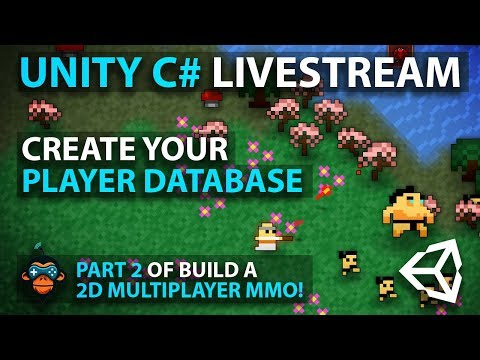 C# with Unity Live Programming #9 - Multiplayer 2D Top Down Adventure MMORPG Part 2