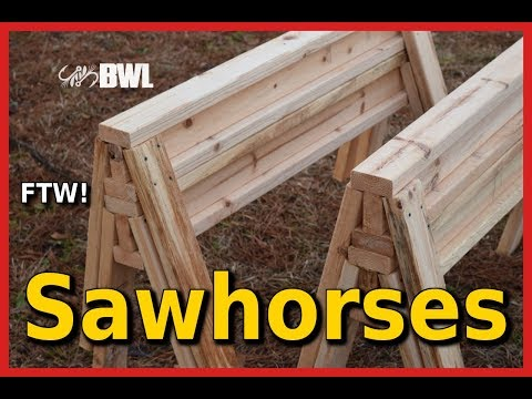 How to Build Sawhorses From 2x4