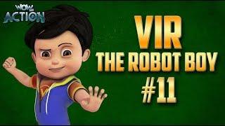 Vir: The Robot Boy   Hindi Cartoon Compilation For Kids   Compilation 11   WowKidz Action