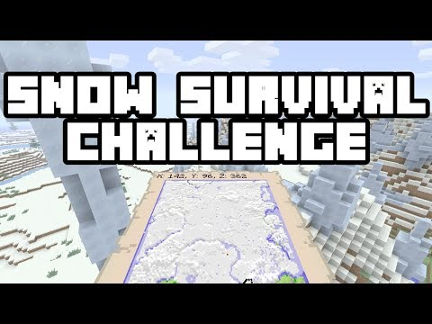 Minecraft Console Edition: SNOW SURVIVAL CHALLENGE SEED! (Full Snow Map w/ Village!) - Xbox One