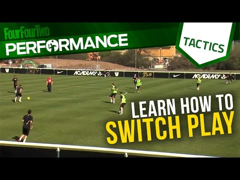 Learn how to switch play | Football training drills | Tactics