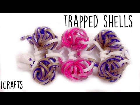Trapped (Sea)Shells Bracelet | Rainbow Loom Tutorial | Hook Only