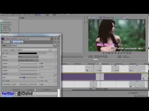 Cara Membuat Teks Karaoke Di Sony Vegas Pro (Bagian 2)