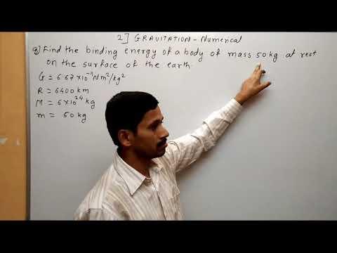 Gravitation Numerical Class 12 Part 4 Maharashtra Board Physics