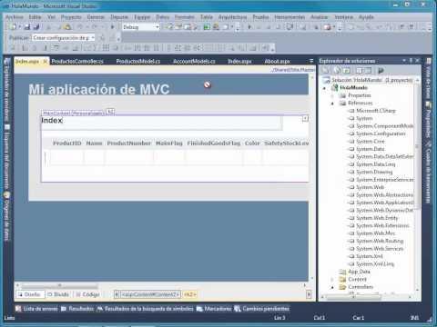 Usar el patrón MVC con ASP.NET y Visual Studio 2010
