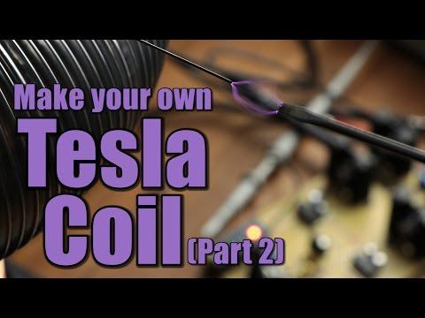 Make your own Tesla Coil (Part 2) || SSTC, IGBT Full Bridge, Interrupter