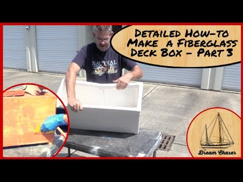 Make your own Deck Box with Plywood and Fiberglass Part 3