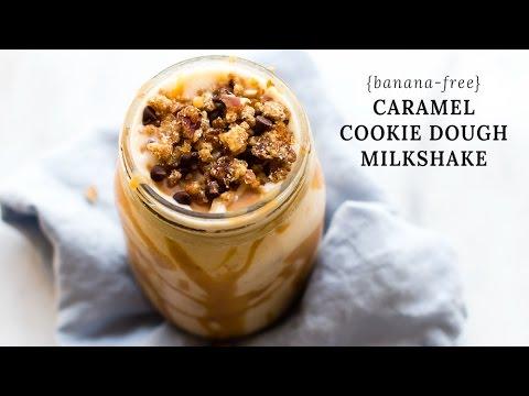 Caramel Cookie Dough Milkshake (banana-free!)