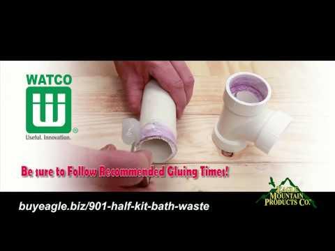 Watco Schedule 40 - Model 901 Series Half Kit Bath Waste Installation