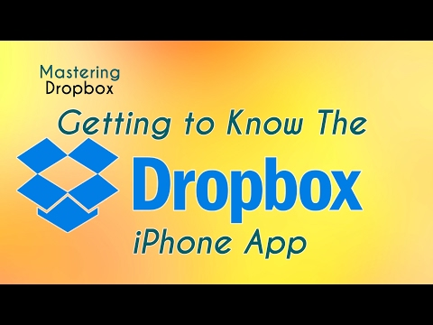 Getting to Know the Dropbox iPhone App