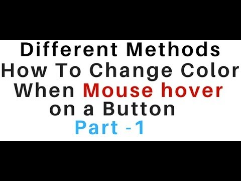 mouse hover background color button change using html and css