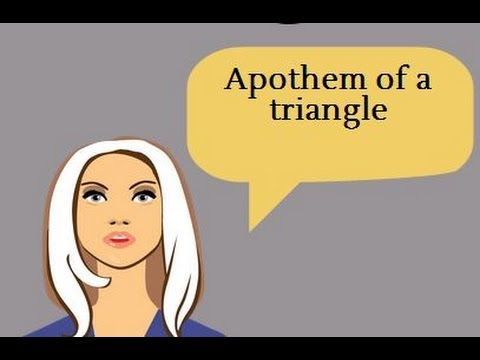 Apothem of a triangle-Geometry Help