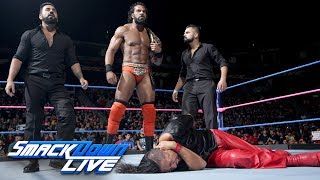 Jinder Mahal executes a sneak attack on Shinsuke Nakamura: SmackDown LIVE, Oct. 3, 2017