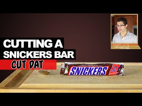 Cutting a Snickers Bar