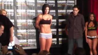 Carano vs Cyborg Weigh Ins - Strikeforce