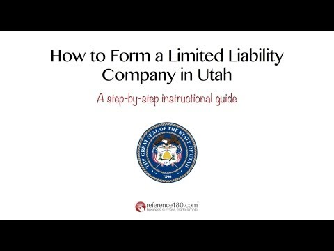 How to Form an LLC in Utah