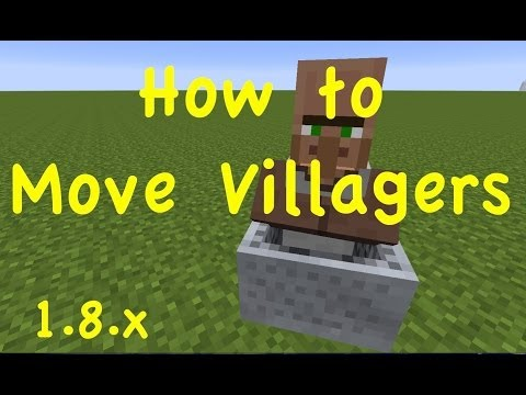 How to Move Villagers | 1.8.x Minecraft