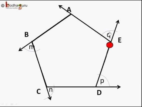Maths - How to find exterior angle sum of a polygon - English