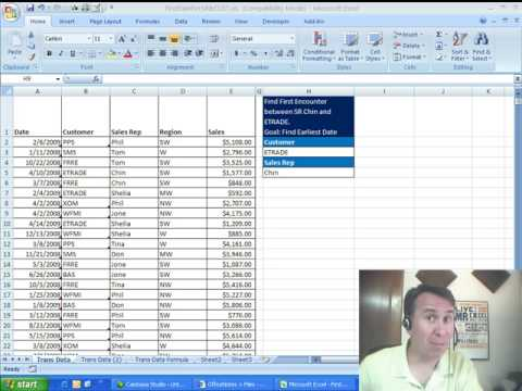 Mr Excel & excelisfun Trick 28: Find Earliest Date From List Of Dates Given 2 Criteria