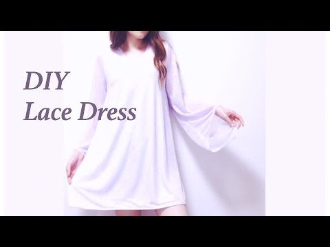 DIY Lace Dress / 服作り / 옷만들기 / 手作教學 / Costura / Sewing Tutorialㅣmadebyaya