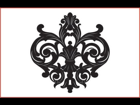 Flower Design In Corel Draw X7 Flower Ornament Vector Cdr