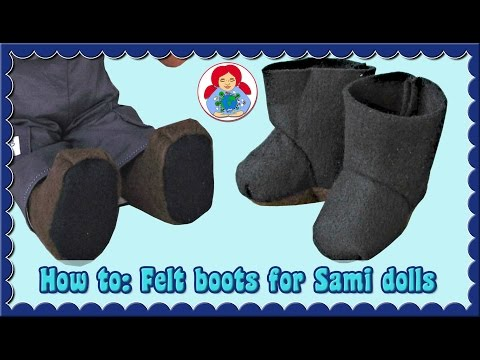 DIY | How to sew felt boots for your doll | Sami Dolls Tutorials