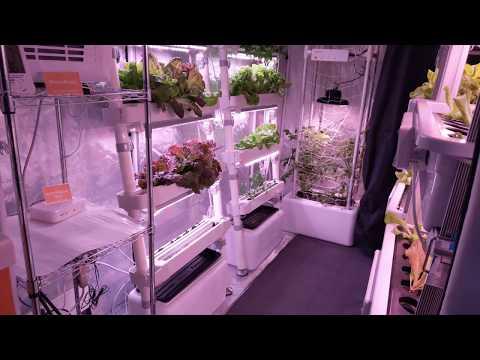 OPCOM Farm - Grow Box, Indoor Hydroponic System - Portable Garden CES 2018 [4K Video]