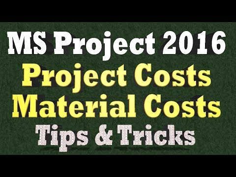 Ms Project Tips and Tricks 2018 - Ms Project Costs - Cost Rates that Change Over Time