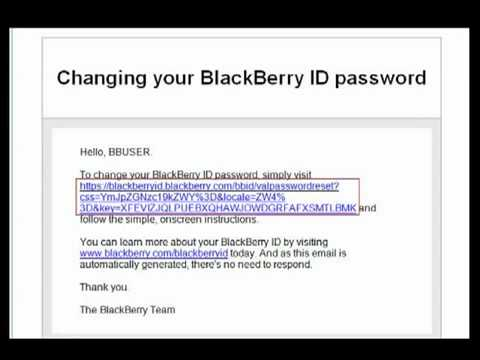 Resetting your BlackBerry ID Password