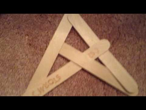 How to make a boomerang out of paddle pop sticks